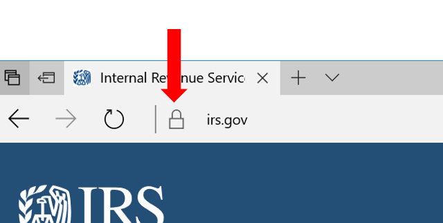 HTTPS in Microsoft Edge browser